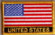 USA Embroidered Flag Patch, style 09.